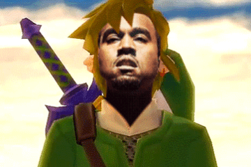 THESE GIFS PROVE KANYE WEST SHOULD BE THE MAIN CHARACTER IN EVERY ZELDA GAME   ALBOTAS