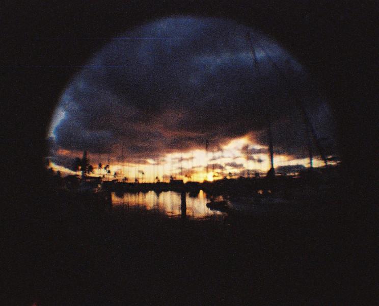Burnt - Lomography Color Tiger film shot at EI 200. Color negative in 110 format.