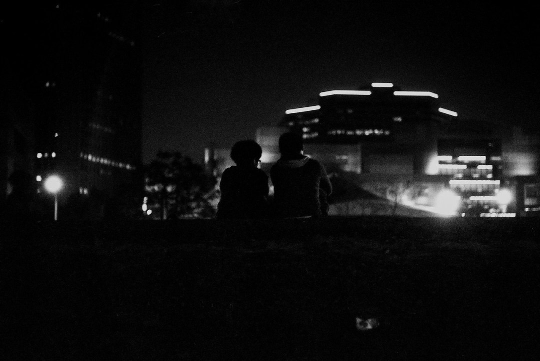 ...long into the night - Shot on Kodak Hawkeye Traffic Surveillance Black and White Film 2485 at EI 800. Black and white negative film in 35mm format. Push processed one-stop.