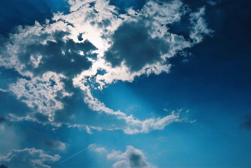 Cloud burst - Shot on Kodak High Definition 200 at EI 200. Color negative film in 35mm format.