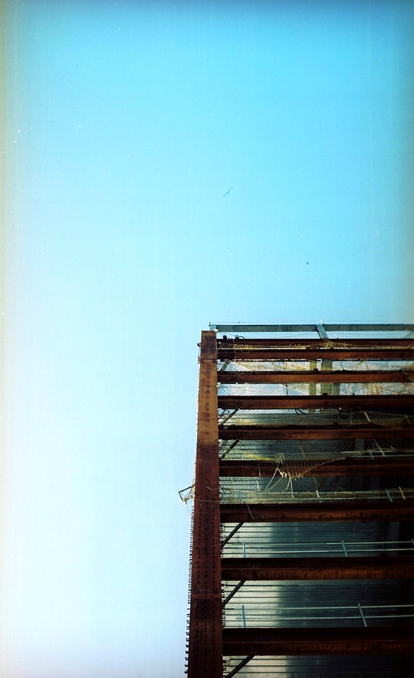 Azure - Kodak Portra 160NC at ISO100. Unperforated 35mm shot in a 120 TLR.