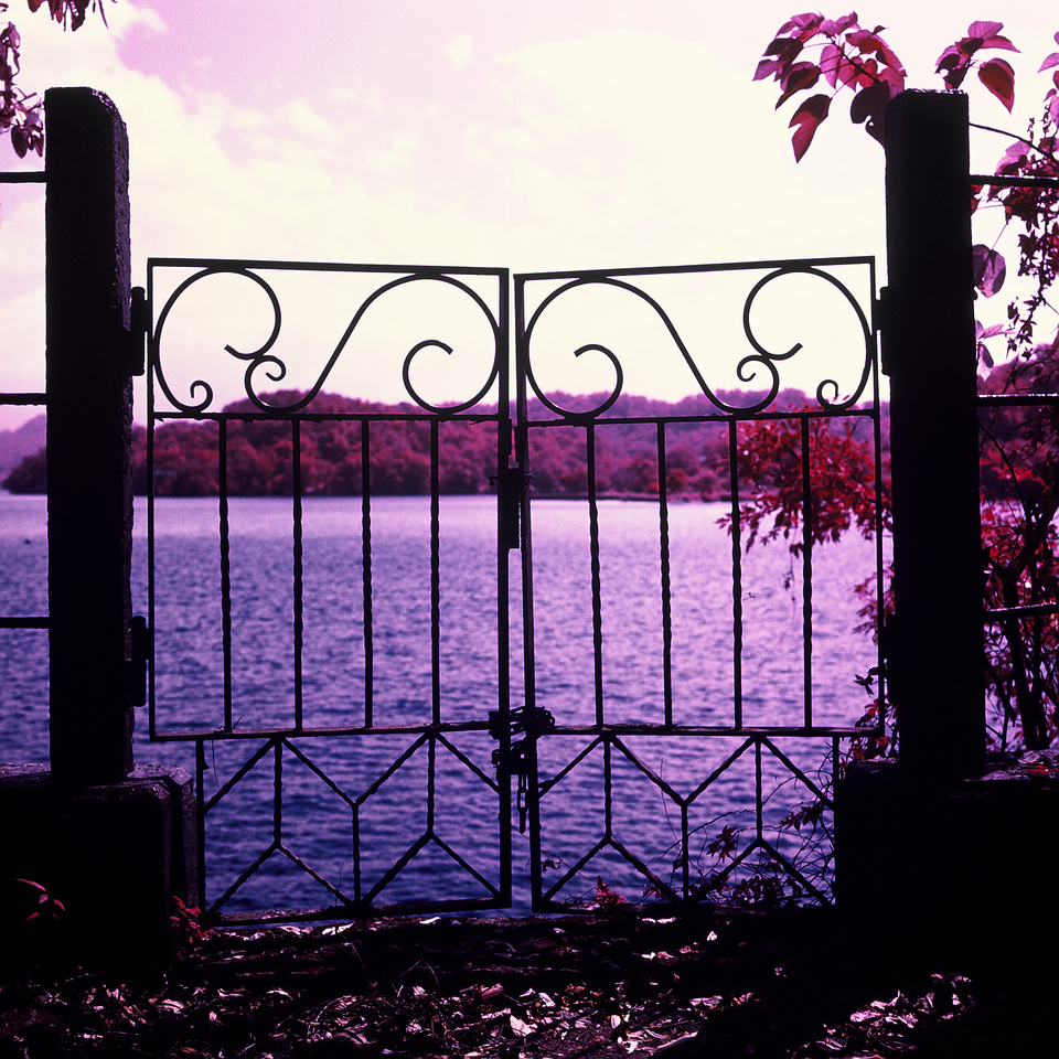 Gated entry - Kodak Aerochrome 1443 - ISO200 - Planar 80/2.8 - Orange #21 filter / 120 as 6x6