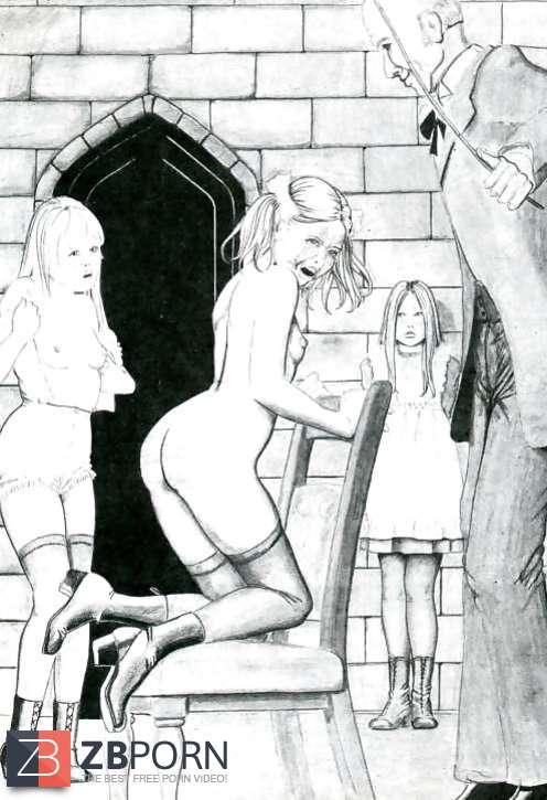 anton spanking drawings