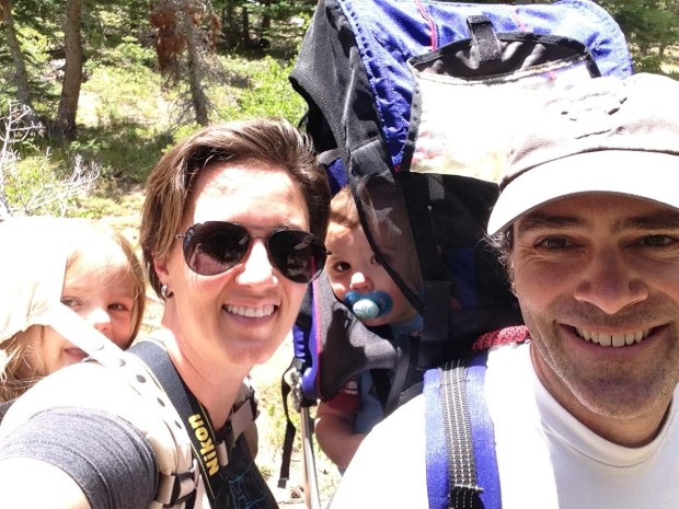 End of our family hike!
