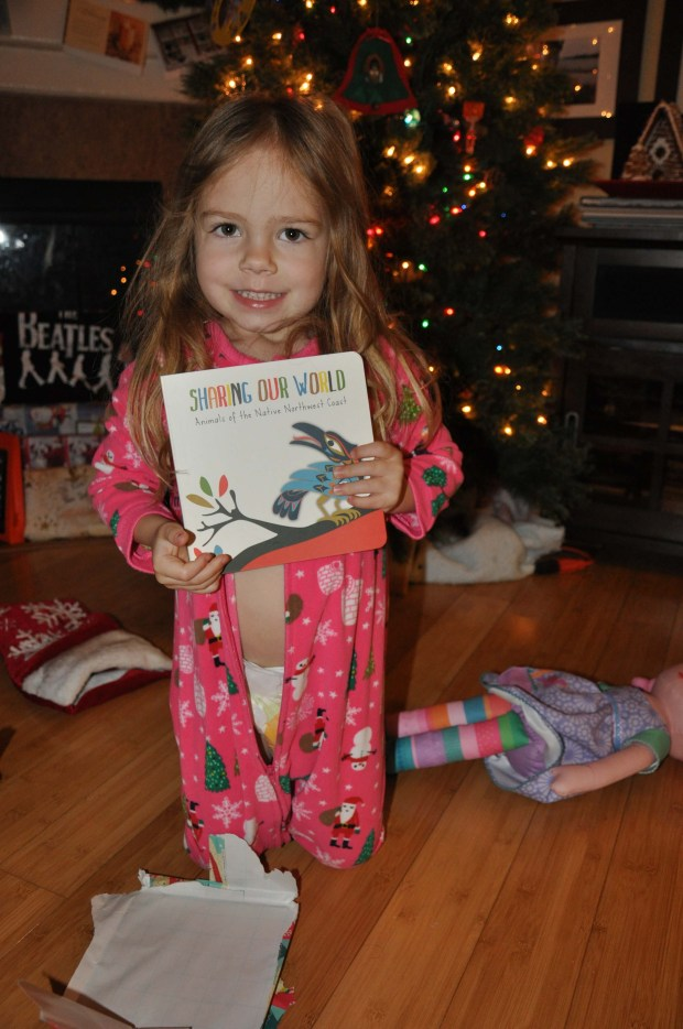 She loved her book from Bi-Nana!