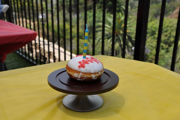 Baseball Birthday Donut!