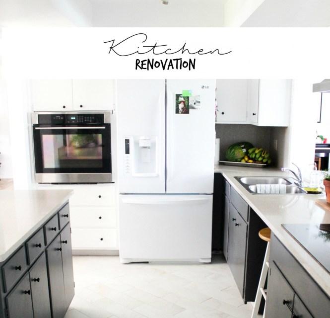 A kitchen renovation