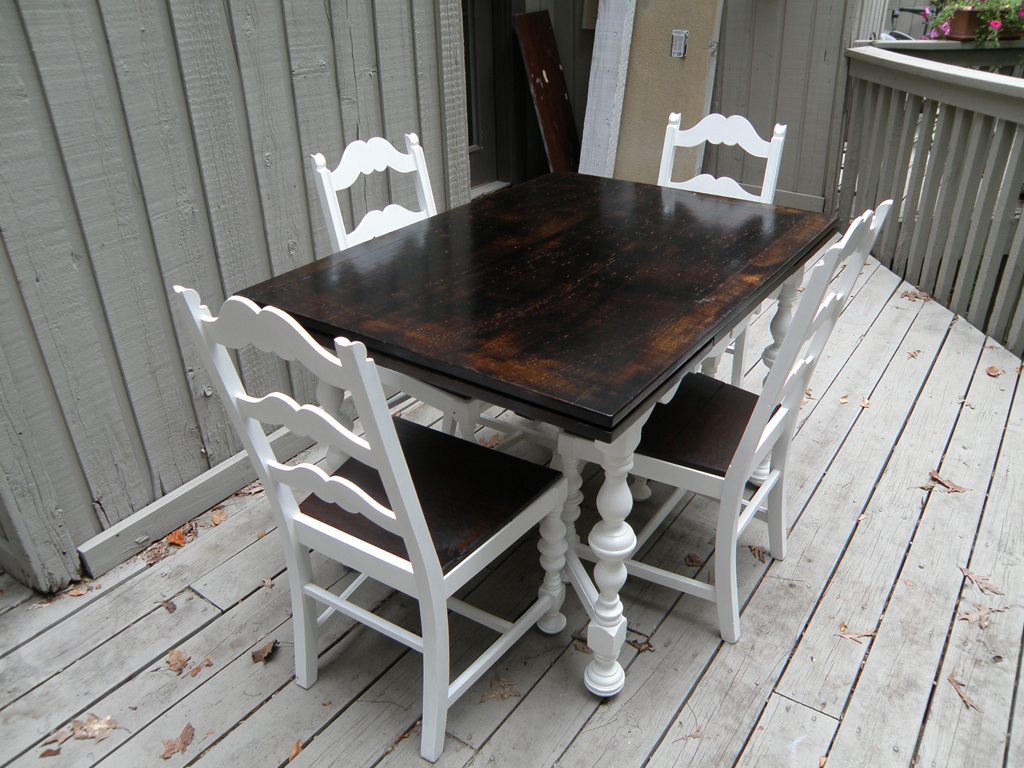 kitchen table and chairs rustic makeover redo kitchen table Advertisements