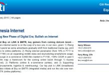 Indonesia Internet Entering New Phase of Digital Era; Bullish on Internet