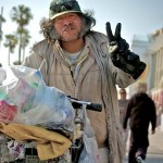 Homeless Man Promotes Peace