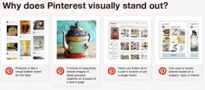 why does pinterest visually stand out