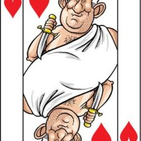 Card-i-cature a week... Week 9 - Charles Clarke (the 3 of Hearts)