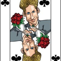 Card-i-cature a week... week 16 - Prince William (the 8 of Clubs)