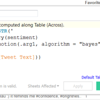 How to implement Sentiment Analysis in Tableau using R?