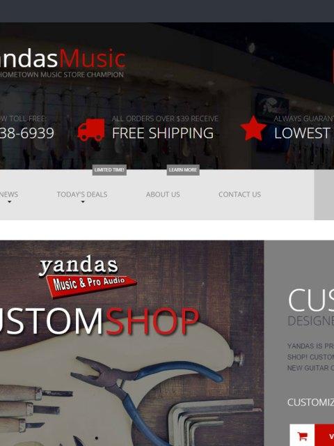 YandasMusic.com screenshot capture