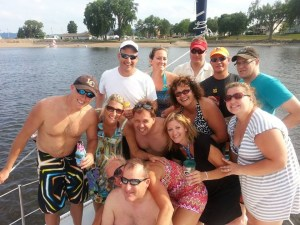 Our sailing group
