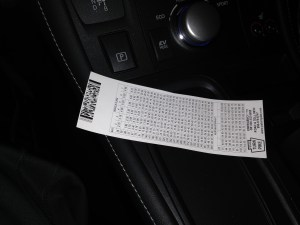 PA Turnpike Toll Ticket