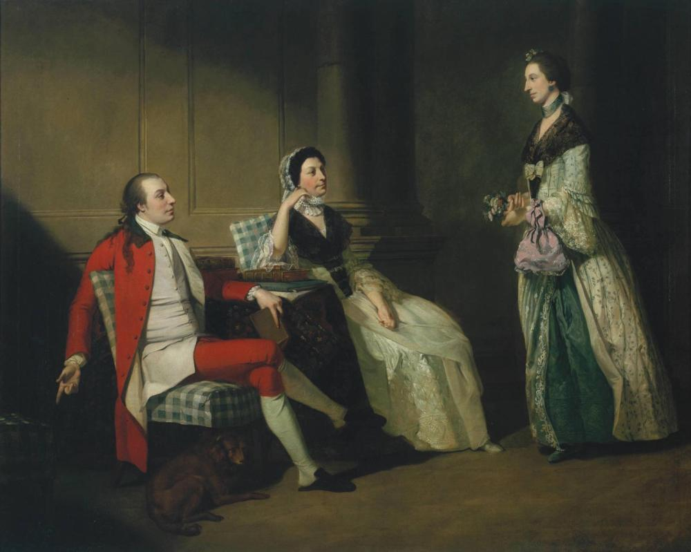 George Thompson, his Wife and (?) his Sister-in-Law c.1766-8 by John Hamilton Mortimer 1740-1779
