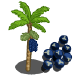 Acai Tree Categoria: Fruits Coste: 27 Monedas que produce: 158 Se vende por: 48 XP: 500