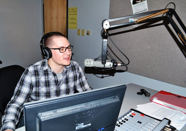 Second-year radio broadcast student Shaugn Best lent research support to the application process.