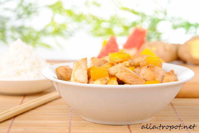 DSC 0039 Пиле с манго и кашу