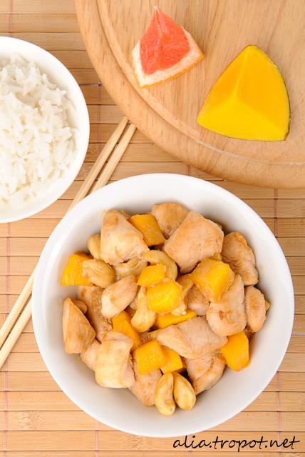 DSC 0059 Пиле с манго и кашу