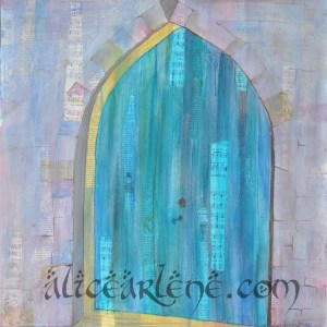 live worship mixed media painting alicearlene.com