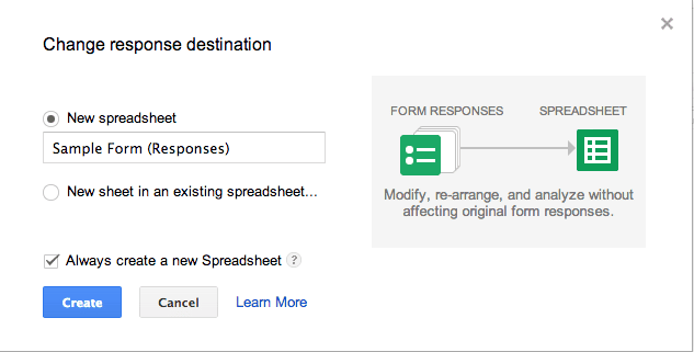 how to create spreadsheet or a google form alice keeler