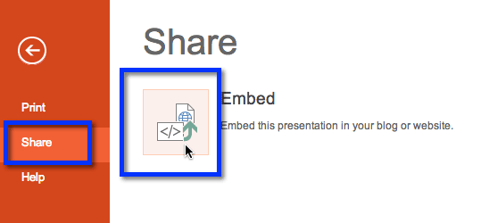share embed