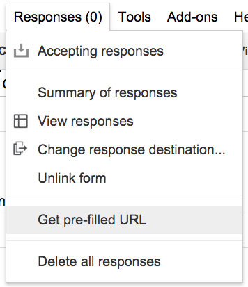 Get pre-filled URL Google Forms