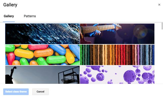 Google Classroom Themes