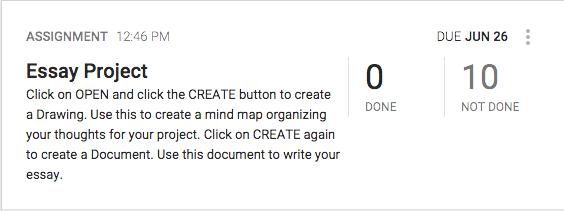 Create an Assignment