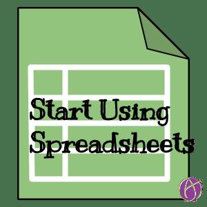 start using spreadsheets