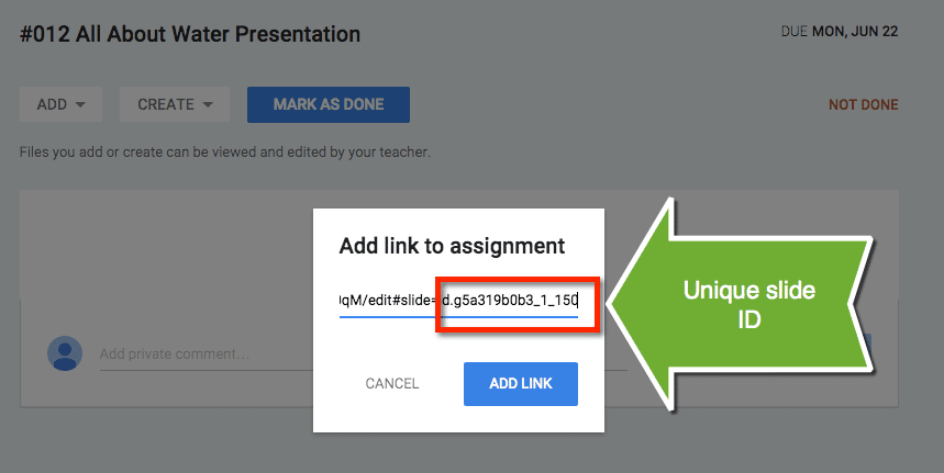 how to put links in google slides