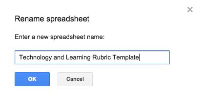 Change spreadsheet name