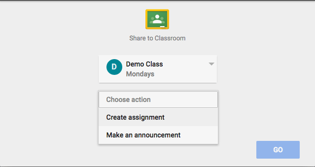 Choose assignment or announcement