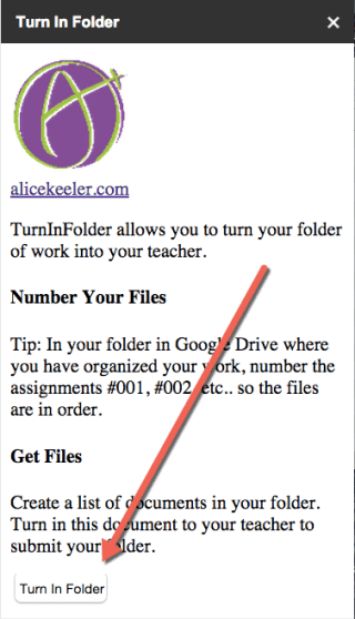 Turn in Folder