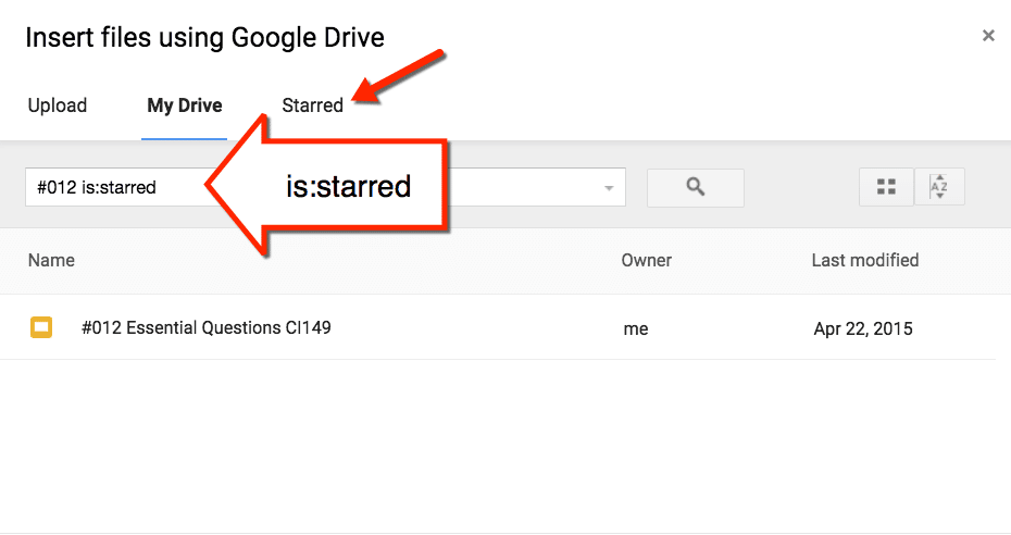 Search Starred