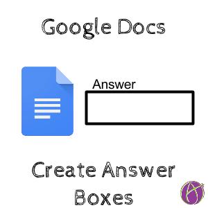 Google Docs Answer Boxes