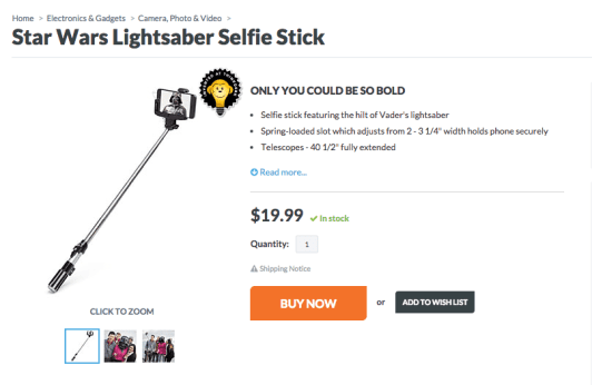 Think Geek Selfie Stick