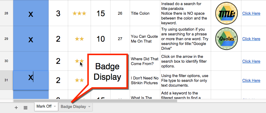 Badge Display