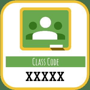 Google Classroom Class Code Template