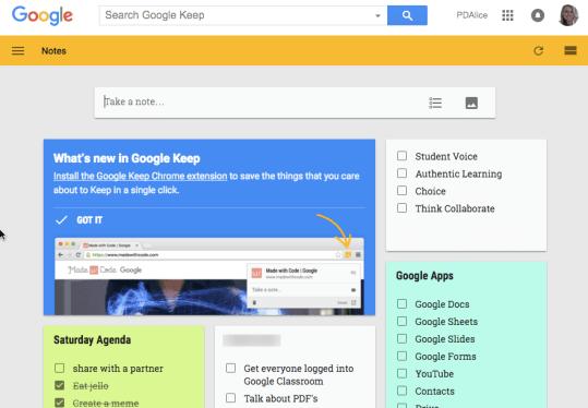 google keep example