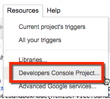 Developers Console Project