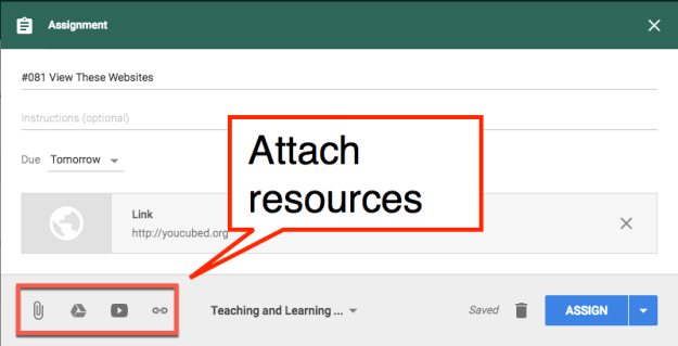 Attach resources