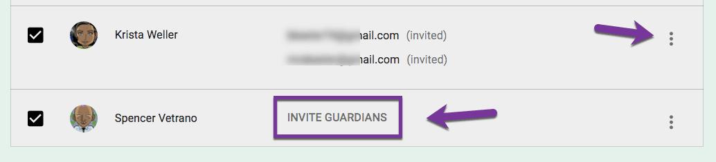 invite guardians in google classroom