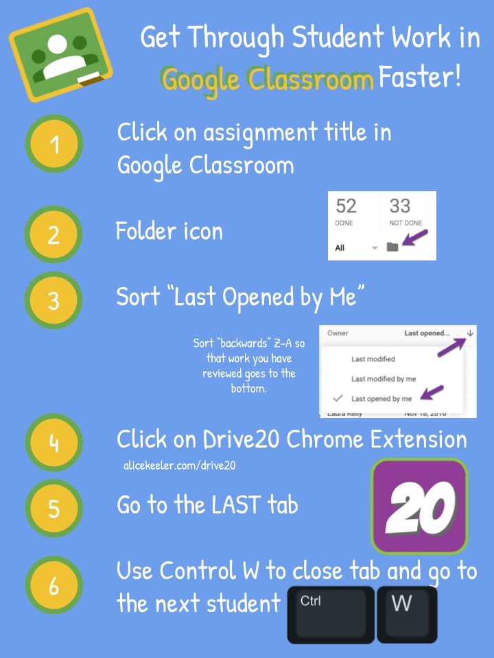 google classroom assess student work faster infographic teacher tech. Black Bedroom Furniture Sets. Home Design Ideas