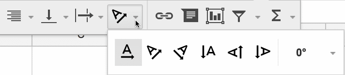 toolbar icon for rotating text