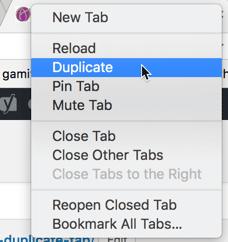 Duplicate the Chrome tab