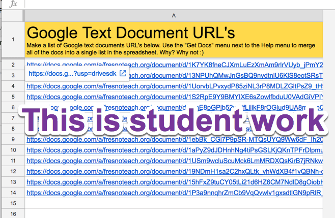 Links to 14 student documents